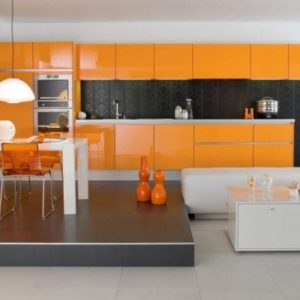Kitchenset Kuning Modern